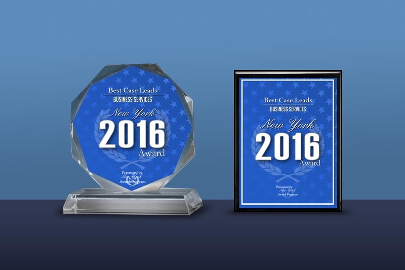 Best Case Leads Receives 2016 New York Award